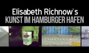 """Das goldene Kalb"", Elisabeth Richnow 2012 - eine fiktive Hafenrundfahrt trifft aufrealen Protest. Mit Statements von Christian von Richthofen (Musik), Elisabeth Richnow, Hamburg-Port-Authority (HPA). Eine Film von Skrollan Alwert."